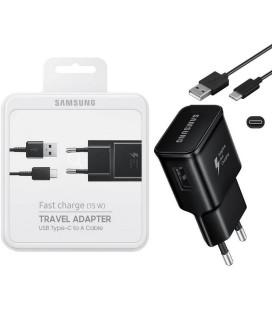 """Originalus Samsung juodas pakrovėjas 2A/1.67A ir USB Type C """"EP-TA20EBE + EP-DG950CBE"""""""