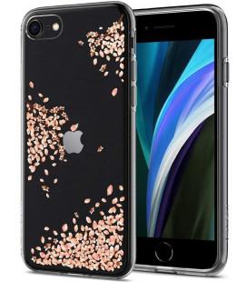 """Skaidrus dėklas Apple iPhone 7/8/SE 2020 telefonui """"Spigen Liquid Crystal Blossom"""""""