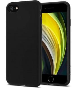 """Juodas matinis dėklas Apple iPhone 7/8/SE 2020 telefonui """"Spigen Liquid Crystal"""""""