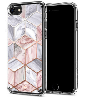 "Rožinis dėklas Apple iPhone 7/8/SE 2020 telefonui ""Spigen Ciel Etoile"""