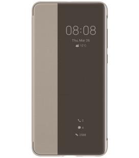 """Originalus rudas atverčiamas dėklas Huawei P40 telefonui """"S-View Case"""""""