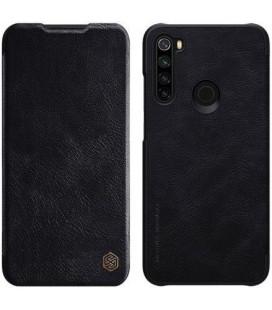 """Odinis juodas atverčiamas dėklas Xiaomi Redmi Note 8 telefonui """"Nillkin Qin"""""""