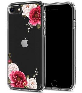 "Skaidrus dėklas Apple iPhone 7/8/SE 2020 telefonui ""Spigen Ciel Red Floral"""