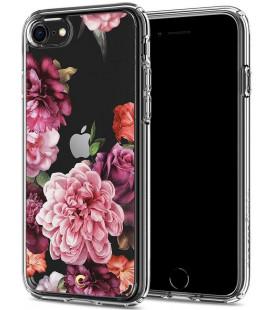 "Skaidrus dėklas Apple iPhone 7/8/SE 2020 telefonui ""Spigen Ciel Rose Floral"""