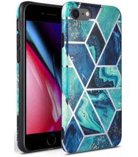 "Mėlynas dėklas su marmuro efektu Apple iPhone 7/8/SE 2020 telefonui ""Tech-Protect Marble"""