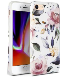 "Baltas dėklas Apple iPhone 7/8/SE 2020 telefonui ""Tech-protect Floral"""