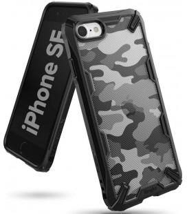 """Juodas (Camo) dėklas Apple iPhone 7/8/SE 2020 telefonui """"Ringke Fusion X"""""""