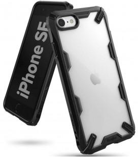 """Juodas dėklas Apple iPhone 7/8/SE 2020 telefonui """"Ringke Fusion X"""""""