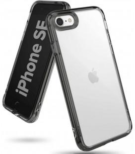 """Juodas/skaidrus dėklas Apple iPhone 7/8/SE 2020 telefonui """"Ringke Fusion"""""""