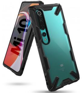 """Juodas dėklas Xiaomi Mi 10 / Mi 10 Pro telefonui """"Ringke Fusion X"""""""