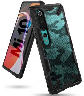 """Juodas (Camo) dėklas Xiaomi Mi 10 / Mi 10 Pro telefonui """"Ringke Fusion X"""""""