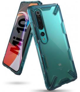 """Žalias dėklas Xiaomi Mi 10 / Mi 10 Pro telefonui """"Ringke Fusion X"""""""