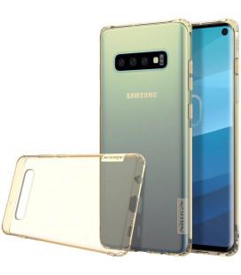 """Rudas silikoninis dėklas Samsung Galaxy S10 telefonui """"Nillkin Nature"""""""