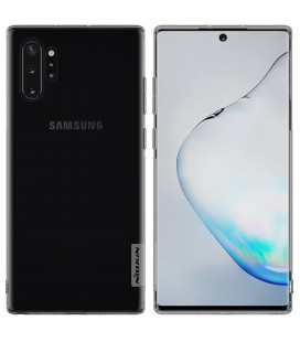 """Skaidrus/pilkas silikoninis dėklas Samsung Galaxy Note 10 Plus telefonui """"Nillkin Nature"""""""