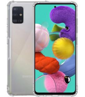 """Skaidrus/pilkas silikoninis dėklas Samsung Galaxy A51 telefonui """"Nillkin Nature"""""""
