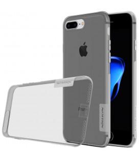 "Skaidrus/pilkas silikoninis dėklas Apple iPhone 7 Plus / 8 Plus telefonui ""Nillkin Nature"""