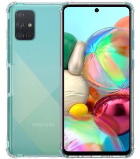 """Skaidrus/pilkas silikoninis dėklas Samsung Galaxy A71 telefonui """"Nillkin Nature"""""""
