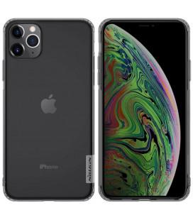"Skaidrus/pilkas silikoninis dėklas Apple iPhone 11 Pro Max telefonui ""Nillkin Nature"""