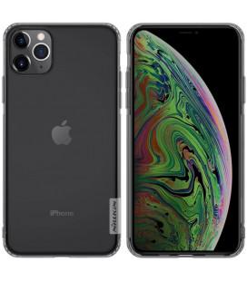 """Skaidrus/pilkas silikoninis dėklas Apple iPhone 11 Pro telefonui """"Nillkin Nature"""""""