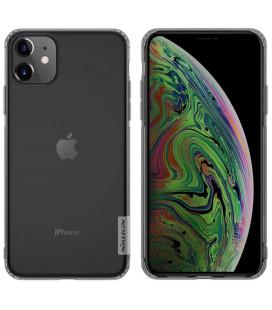"Skaidrus/pilkas silikoninis dėklas Apple iPhone 11 telefonui ""Nillkin Nature"""