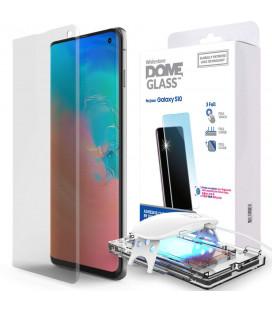 """Skaidrus apsauginis grūdintas stiklas Samsung Galaxy S10 """"Whitestone Dome Glass"""""""