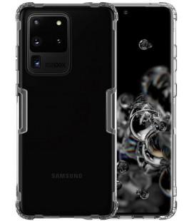 """Skaidrus/pilkas silikoninis dėklas Samsung Galaxy S20 Ultra telefonui """"Nillkin Nature"""""""