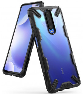 "Juodas dėklas Xiaomi Pocophone X2 / Redmi K30 telefonui ""Ringke Fusion X"""