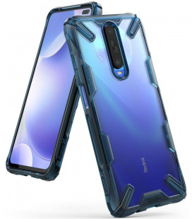 "Mėlynas dėklas Xiaomi Pocophone X2 / Redmi K30 telefonui ""Ringke Fusion X"""