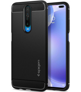 "Juodas dėklas Xiaomi Pocophone X2 / Redmi K30 telefonui ""Spigen Rugged Armor"""