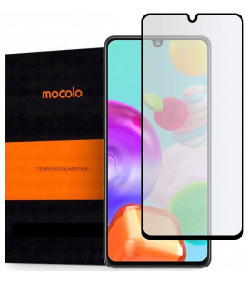 """Juodas apsauginis grūdintas stiklas Samsung Galaxy A41 telefonui """"Mocolo TG Full Glue"""""""