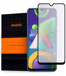 """Juodas apsauginis grūdintas stiklas Samsung Galaxy M21 telefonui """"Mocolo TG Full Glue"""""""