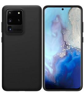 """Juodas silikoninis dėklas Samsung Galaxy S20 Ultra telefonui """"Nillkin Flex Pure Liquid Silicone"""""""