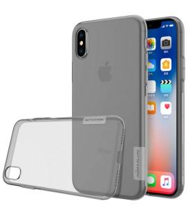 """Skaidrus/pilkas silikoninis dėklas Apple iPhone X/XS telefonui """"Nillkin Nature"""""""