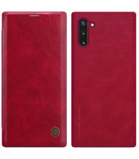 """Odinis raudonas atverčiamas dėklas Samsung Galaxy Note 10 telefonui """"Nillkin Qin"""""""