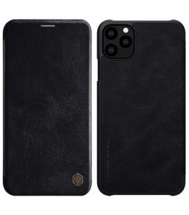 """Odinis juodas atverčiamas dėklas Apple iPhone 11 Pro telefonui """"Nillkin Qin"""""""