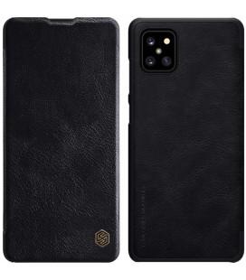 """Odinis juodas atverčiamas dėklas Samsung Galaxy Note 10 Lite telefonui """"Nillkin Qin"""""""