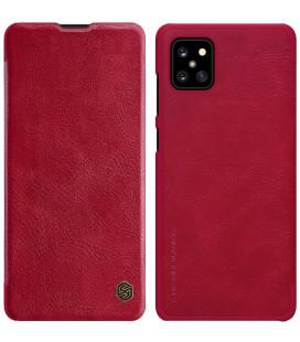 """Odinis raudonas atverčiamas dėklas Samsung Galaxy Note 10 Lite telefonui """"Nillkin Qin"""""""