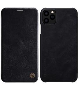 """Odinis juodas atverčiamas dėklas Apple iPhone 11 Pro Max telefonui """"Nillkin Qin"""""""