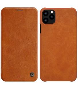 """Odinis rudas atverčiamas dėklas Apple iPhone 11 Pro Max telefonui """"Nillkin Qin"""""""