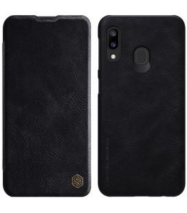 """Odinis juodas atverčiamas dėklas Samsung Galaxy A20E telefonui """"Nillkin Qin"""""""