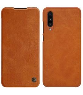 """Odinis rudas atverčiamas dėklas Xiaomi Mi A3 telefonui """"Nillkin Qin"""""""