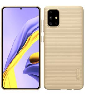 """Auksinės spalvos dėklas Samsung Galaxy A71 telefonui """"Nillkin Frosted Shield"""""""