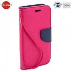 """Rožinis atverčiamas dėklas Samsung Galaxy J1 2016 telefonui """"Telone Fancy"""""""
