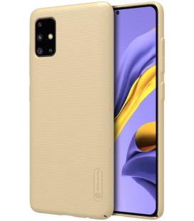 """Auksinės spalvos dėklas Samsung Galaxy A51 telefonui """"Nillkin Frosted Shield"""""""