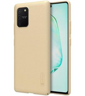 """Auksinės spalvos dėklas Samsung Galaxy S10 Lite telefonui """"Nillkin Frosted Shield"""""""