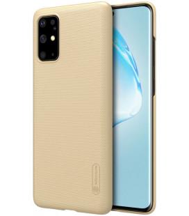 """Auksinės spalvos dėklas Samsung Galaxy S20 Plus telefonui """"Nillkin Frosted Shield"""""""