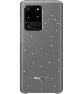"""Originalus pilkas dėklas """"LED Cover"""" Samsung Galaxy S20 Ultra telefonui """"EF-KG988CJE"""""""