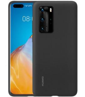 """Originalus juodas dėklas Huawei P40 Pro telefonui """"Silicone Cover"""""""