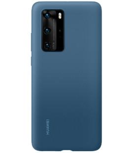 """Originalus mėlynas dėklas Huawei P40 Pro telefonui """"Silicone Cover"""""""