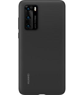 """Originalus juodas dėklas Huawei P40 telefonui """"Silicone Cover"""""""